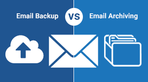 Email Backup vs Archiving Graphic